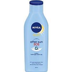 Nivea Sun After Sun Sos Lotion - sofortige Linderung - hilft sonnengestresster haut sich zu regenerieren. Inhalt: 200ml After Sun nach dem Sonnenbad - beruhigt und reduziert Hautrötungen.