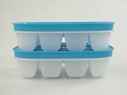 Tupperware Eiswürfler für je 12 Eiswürfel Eiskristall blau (2) (Tupperware 12 Stück)