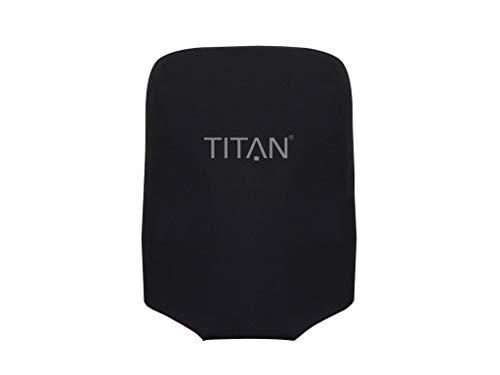 TITAN Kofferhülle UNIVERSAL - aus elastischem Spandex Polyester für 4-Rad Trolleys S, 55 cm, Schwarz