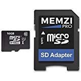 Memzi Pro 16GB Class 1090MB/s Micro-SDHC-Speicherkarte mit SD Adapter für Hubsan Quadcopter oder Scheibe