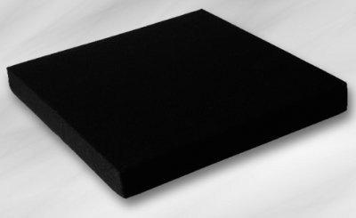 EcoKiss Sitzkissen schwarz 48x43x5cm(Werkmeister), Sitzkissen -