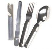 Original 4pcs. Cutlery from the German Bundeswehr camping cutlery steel eating irons (Original)