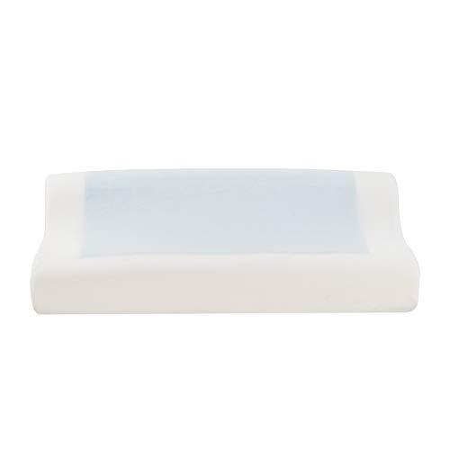 AKHAK Almohada de Gel de Memoria, 19,7 x 11,1 x 2,9/4 cm, Almohada de algodón de Memoria de Perfil...