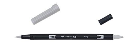 Tombow ABT-N75 Fasermaler Dual Brush Pen mit zwei Spitzen, cool grey 3