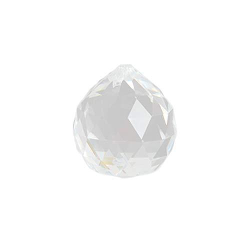 Yardwe 20 stücke 20mm Klarem Kristall Facettierte Beleuchtung Kronleuchter Ball Perlen Anhänger für Foyer Esszimmer Wohnzimmer Schlafzimmer Entrance Flur -