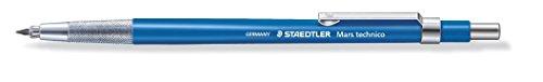 fallminenbleistift Staedtler Mars Technico 780 C Fallminenstift (hohe Qualität, mit Metallclip und HB Mine, integrierter Minenspitzer, Schaftfarbe) blau