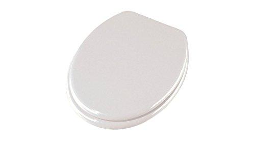 Design Schwarz edles Muster Carpemodo WC Sitz WC Deckel Klodeckel MDF robustem Holzkern Antibakteriell Scharniere aus Metall Gr/ö/ße 43x36 cm