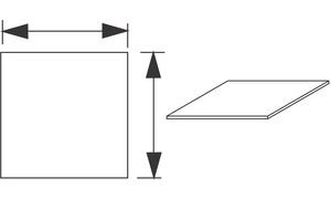 Wellemöbel 72317204 Arbeitsplatte'CONTACT', (B)800 mm, Kirschbaum