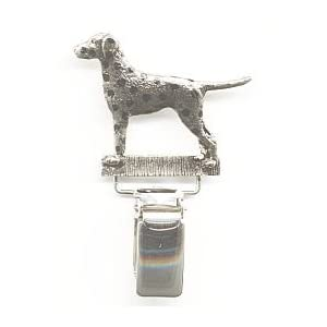 German Wire Hair Pointer Show Ring Clip//Number Holder