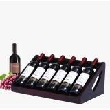 XIAPENGModern Creative Parkett Lagerung Retro Farbe Rotwein Rack 53 * 26 * 20cm Wohnzimmertisch 6 Flaschen 750ML Rotwein