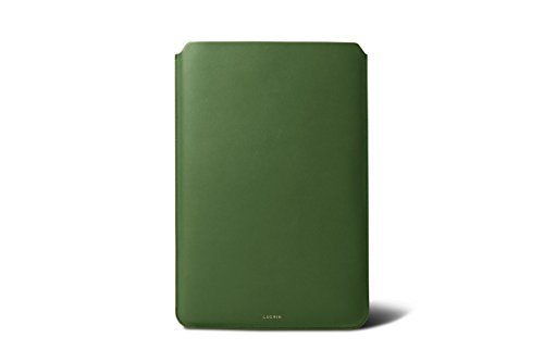 Lucrin - Custodia Per Macbook Air 13 Pollici - Dunkeltaupe - Pelle Liscia Verde Chiaro
