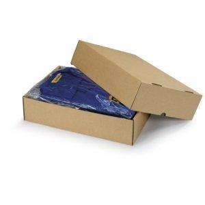 Preisvergleich Produktbild 1 Verpackungseinheit (25 Stück) braune Stülpdeckelkartons<br / >Innenmaße: L 305 mm x B 215 mm x min / max H 50 / 90 mm<br / >geeignet für DIN A4