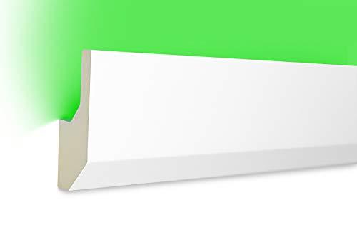 2 Meter | LED Profil | indirekte Beleuchtung | Stuck | lichtundurchlässig | stoßfest | Leiste | wetterbeständig | 80x33mm | LED-7
