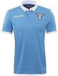 S.S. Lazio Macron® Official Original Home Football Shirt (Short Sleeve) Classic without Sponsor Advert Unisex Merchandise Fan Jersey (Official Authentic Home Jersey) Italian Serie A Fan T-Shirt Season 2016/17
