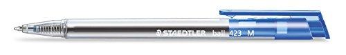 Staedtler 423 MP3 retráctil Bolígrafos Ancho de línea M / 0,45 MM Pack de 10 en la caja de cartón, Azul