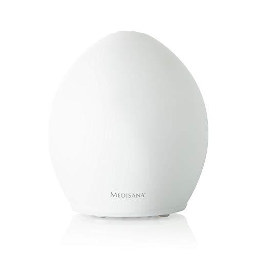 Medisana AD 635 Aroma Diffuser, angenehmer Raumduft dank Aromafach, Wellnesslicht in 6 Farben, ideal für Yoga Salon, Spa, Wohn-, Schlaf-, Bade- oder Kinderzimmer, 100ml Tank - 60085