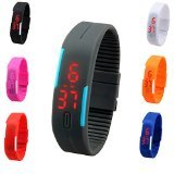 Noctronique S1 TPU Band Red LED Digital Unisex Watch - FT2331103 - (Color May Vary)