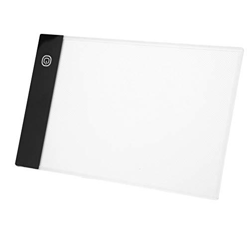 Tablero de trazado LED, caja de luz para dibujo, bloc de dibujo digital A5 para tabla de copia, tableta...