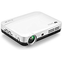 WOWOTO H8 Video Projector,3D DLP Projector 1280x800 Support 1080P Full HD , Android 4.4 OS , with Keystone, HDMI, WIFI &