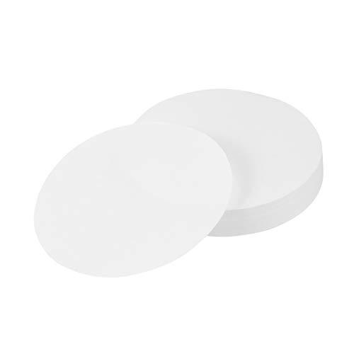 Hemobllo Filterpapier Qualitativ Runde Mittelvolumenstrom Durchflussgeschwindigkeit Filterpapier 100 Stück 11cm (Weiß) (Labor-filter-papier)