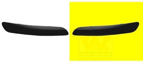 Van Wezel 5895581 Profile ou CTC Pare-choc gauche, Noir
