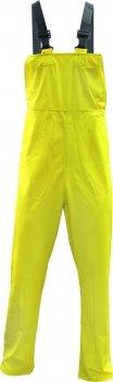 Triuso PU-Regenlatzhose gelb Gr.XXXL Latzhose Arbeitshose Regenhose Schutzhose Hose Regen Gummihose Gummilatzhose Regenschutzlatzhose Regenhose Regen Latzhose