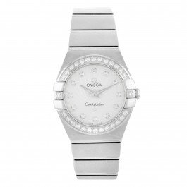 Omega 123,15.24,60.55,002 da donna, serie: Costellazione-Mocio con orologio, 24 mm