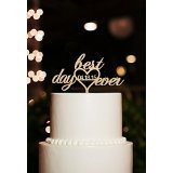 Die besten Day Ever Toppers - Best Day Ever with Personalized Date Anniversary Wedding Bewertungen