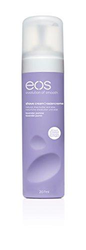 eos Shave Cream Lavender Jasmine, Rasiercreme für Frauen, statt Rasierschaum oder Rasiergel, für eine schonende Rasur, vegan, 1 x 207 ml -