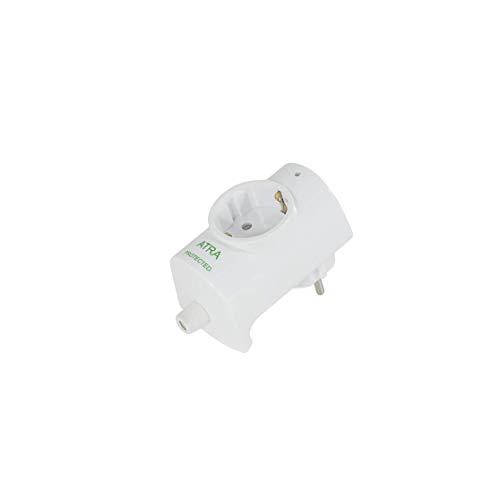 AtR Schutzkontakt-Stecker mit integrierte Steckdose 16A/250V, für Kabel bis 3x1.5 mm² mit Überspannungsschutz