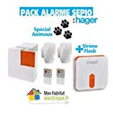 Hager - Pack Alarme Sepio + sirène extérieure - RLP305F - Hager - RLP305F