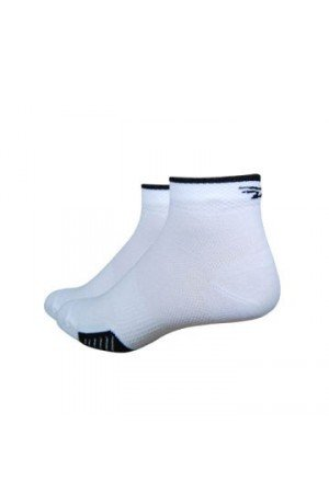 Defeet Cyclismo 1 Striped Socks, Large, White/Black (Socke Bike Speede Defeet)
