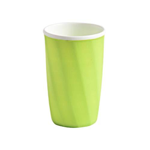 DOLDOA Haushalt Wohnen,Bad Zahnputzbecher Zahnpastahalter Strohbecher Trinken Waschen Gurgeln Tasse (Grün) -