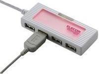 Elecom A USB Hub 4Port, rot