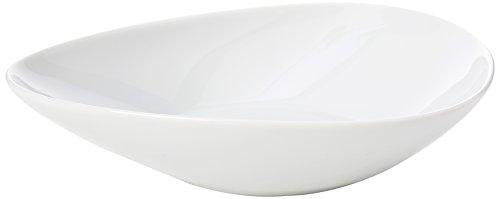 Alessi Fm10/2 Colombina Collection Assiette Creuse en Porcelaine Blanche, Set de 6 Pièces