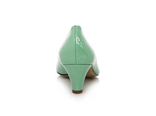 Tacco Largo Lacca 5cm Verde Pelle Verde (aqua)