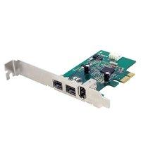 StarTech.com 3 Port 800+400 FireWire PCI Express Schnittstellen Combo Karte - FireWire-Adapter - PCIe - FireWire 800-2 Anschlüsse + 1 x FireWire - Karte Combo