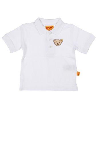 Steiff Unisex - Baby Poloshirt 1/4 Arm 9916841, Einfarbig, Gr. 104, Weiß (Bright White 1000)