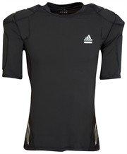 adidas Men's Performance Techfit Padded Short Sleeve Top (690372) (Black) (L)