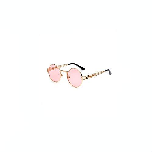 shixiaodan Sonnenbrille für Damen Frauen Schutz SonnenbrillenVintage Steam Punk Round Brille