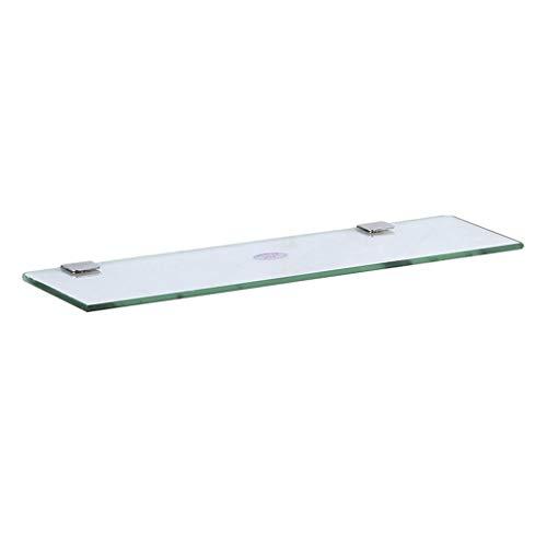 STAR-SHELF Badezimmer-Regal-ausgeglichenes Glas-freier Speicher-Anzeigen-Wand-Berg Legt Modernen Hauptorganisator Beiseite (Size : 40cm) (Glas-regal-anzeige)