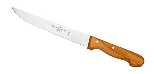 *Schwertkrone Fleischmesser | Olivenholzgriff | Allzweckmesser | Schinkenmesser (Fleischmesser – 20cm)*