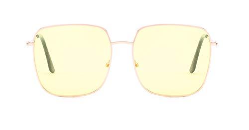 KnSam Polarisierte UV400 Schutz Ultraleicht Rahmen Quadrat Unisex Gelb Sonnenbrillen Fahrerbrille