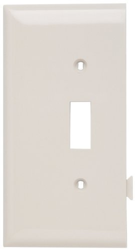 Legrand-Pass & Seymour PJSE1LA Sectional Thermoplastic Wall Plate Junior Jumbo Toggle End Section, Light, Almond by Legrand-Pass & - Almond Light Plate Wall