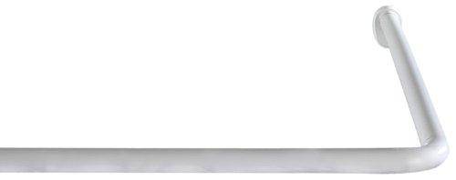 Wenko Winkelstange Universal (variabel, Ø 2 cm, Aluminium) weiß, 19214100