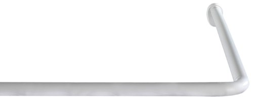 duschvorhang aufhaengung Wenko Winkelstange Universal, variabel, Ø 2 cm, Aluminium weiß, 19214100