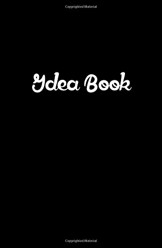 Black Idea Book: 120 Pages Dotted Notebook Journal 5.25