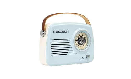 Oferta de Freesound - VR30 - Madison - Radio Vintage con Bluetooth (30 W, USB) Color Azul