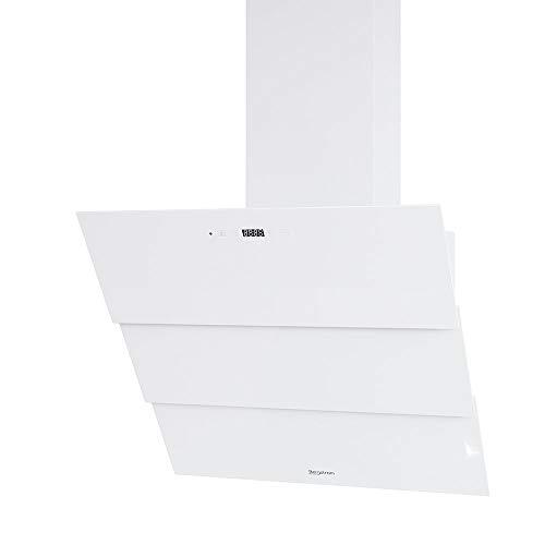 Bergström Dunstabzugshaube Kopffreihaube ROLLO mit Fernbedienung Schräghaube (60cm, Weiß)