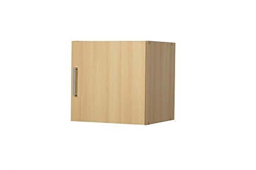 """Aufsatz-/Hängeschrank """"Tine"""", Buche Dekor, 1 Tür, 40 x 40 x 39 cm, Funktionsschrank, Aufbewahrungsschrank"""
